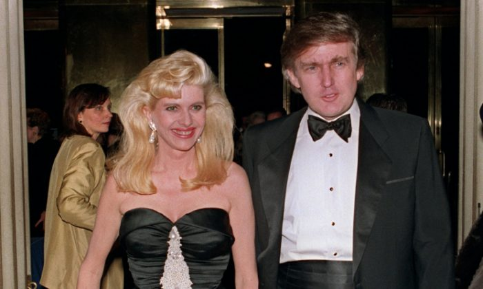 Billionaire Donald Trump and his wife Ivana arrive 04 December 1989 at a social engagement in New York. (SWERZEY/AFP/Getty Images)