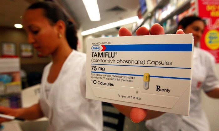 A package of Tamiflu is seen in a pharmacy April 27, 2009 in the Queens borough of New York City. (Mario Tama/Getty Images)