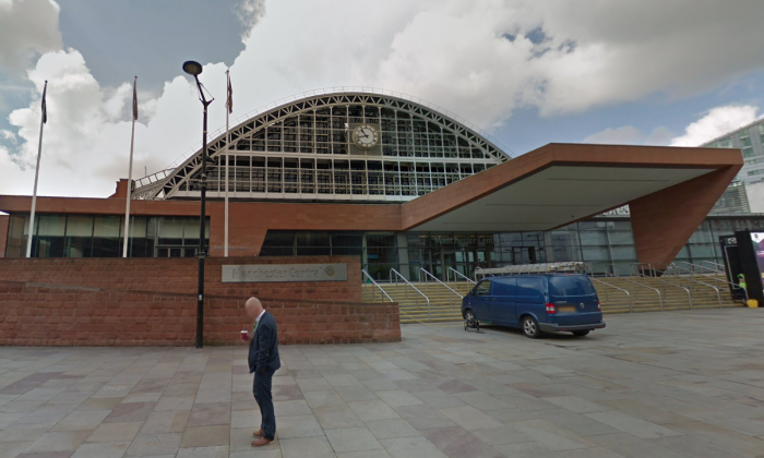 Manchester Central Convention Center. (Screenshot via Google Maps)