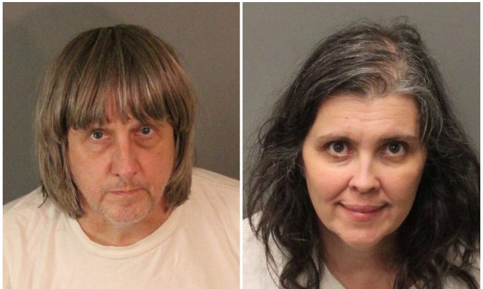 David Allen Turpin (L) and Louise Ann Turpin in booking photos provided by the Riverside County Sheriff's Department in Riverside County, California on Jan. 15, 2018. (Riverside County Sheriff's Department/Handout via Reuters)
