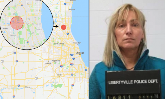 A woman has been arrested after returning to the scene of a crime on Jan. 11, where she allegedly shoplifted items worth around $2000 in November. (Libertyville Police Department / Google Maps)