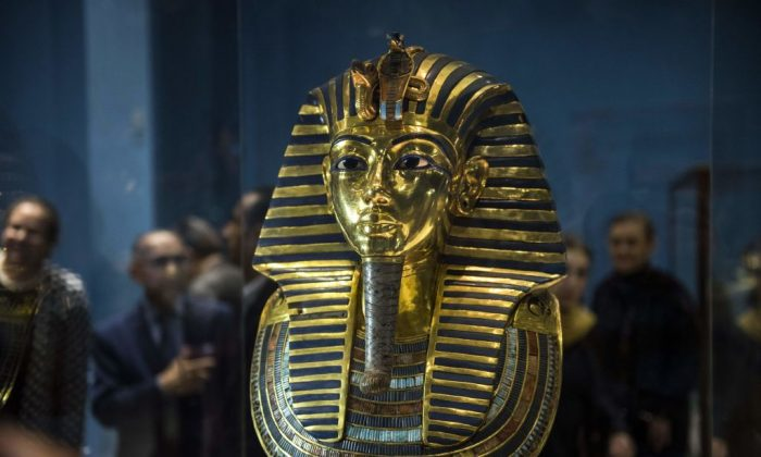The Golden Mask of King Tutankhamun, on display at the Egyptian Museum in the capital Cairo, on Nov. 28, 2017. (Mohamed El-Shadaed/AFP/Getty Images)