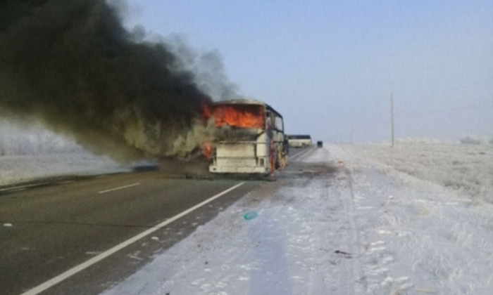 A bus fire in north-western Kazakhstan killed 52 Uzbek citizens on a route used by migrant workers heading to Russia, the Kazakh Interior Ministry said on Thursday Jan. 18. (Reuters)