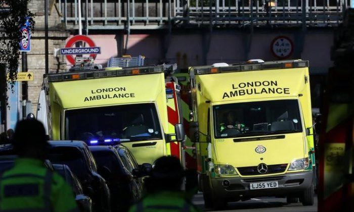 Stock footage of an ambulance (Reuters/Luke MacGregor)