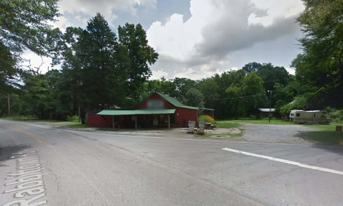 The junction of Rabbittown Road and Red Road 55, where police found Tony Parker with a self-inflicted gunshot wound on Jan 18, 2018. (Screenshot/GoogleMaps)