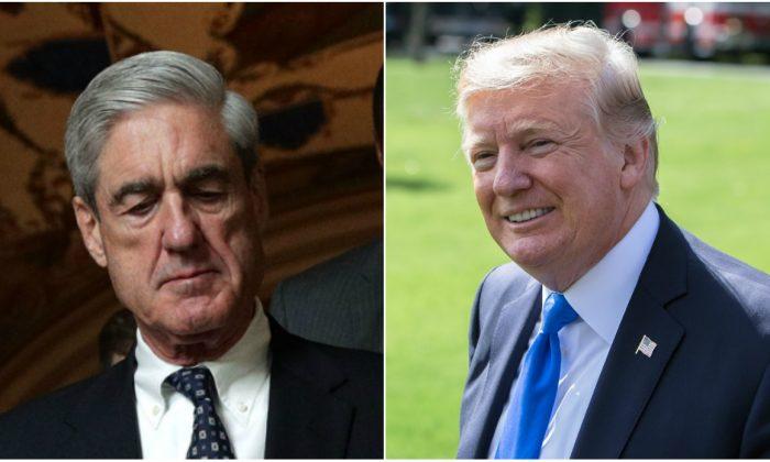 Special counsel Robert Mueller (Alex Wong/Getty Images); President Donald Trump (Samira Bouaou/The Epoch Times