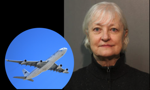 Marilyn Hartman, 66, was arrested after getting onto an airplane without a ticket and flying to London. Marilyn Hartman, 66, was arrested after getting onto an airplane without a ticket and flying to London. (Chicago Police Department and inlaid: stock photo via Pixabay / CCO)