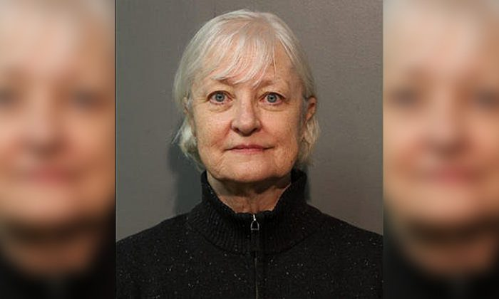 Marilyn Hartman, 66, was arrested after getting onto an airplane in Chicago without a ticket and flying to London, according to police. (Chicago Police)