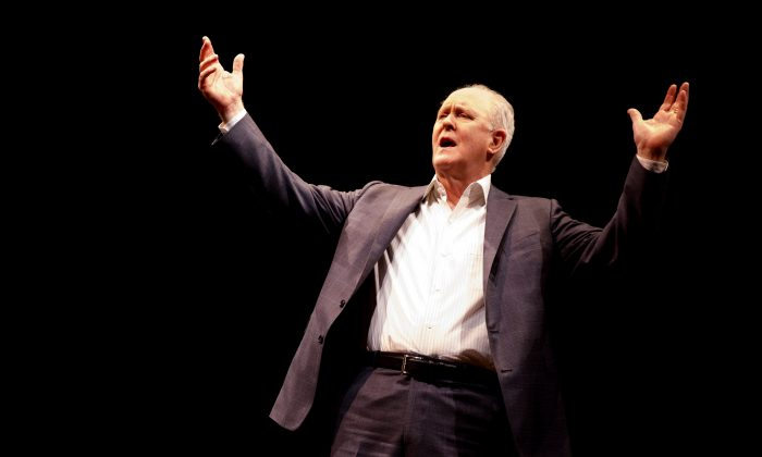 """John Lithgow in """"Stories by Heart,"""" produced by Roundabout Theatre. (Joan Marcus)"""