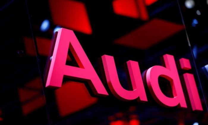 An Audi logo is pictured at the Frankfurt Motor Show (IAA) in Frankfurt, Germany September 16, 2017. (Reuters/Ralph Orlowski)