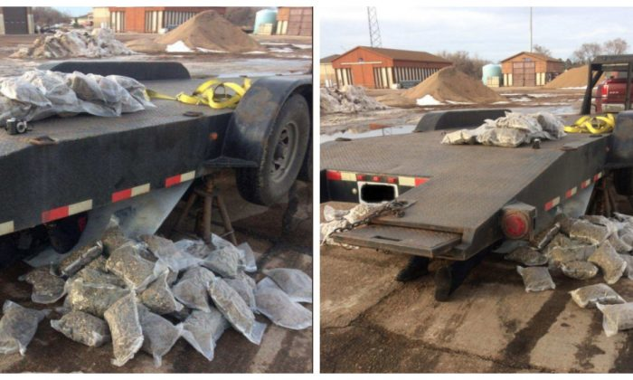 Nebraska State Patrol seized more than 120 pounds of marijuana from trailer traveling on I-80 on Jan. 19. (Nebraska State Patrol)