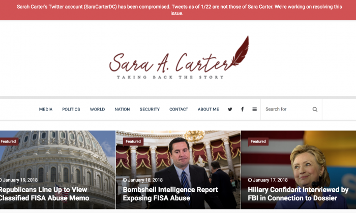 Twitter Account Of Prominent National Security Reporter Sara Carter Hacked Carter is a fox news contributor and the host of the hit podcast, the sara carter show. twitter account of prominent national