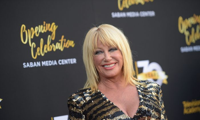 Actress Suzanne Somers attends the Television Academy's 70th Anniversary Gala in Los Angeles, on June 2, 2016. (Jason Kempin/Getty Images)