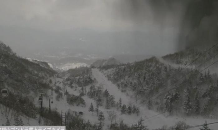 Mt Kusatsu-Shirane erupting in Japan on Jan. 23, 2018. (Reuters)