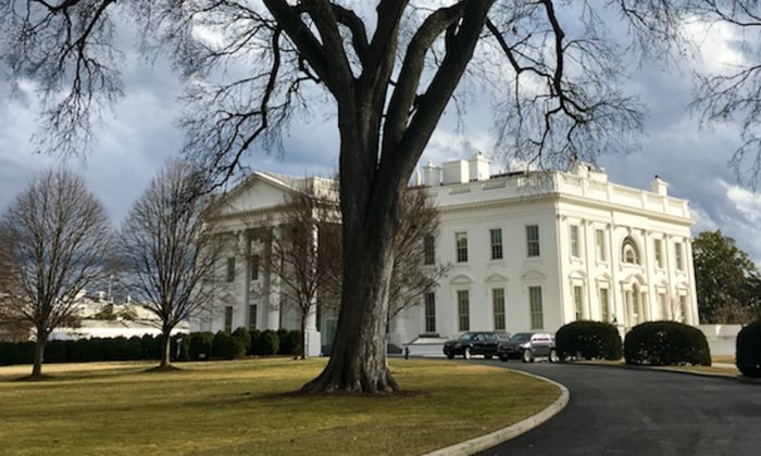 The White House in Washington on Jan. 23, 2018. (Charlotte Cuthbertson/The Epoch Times)