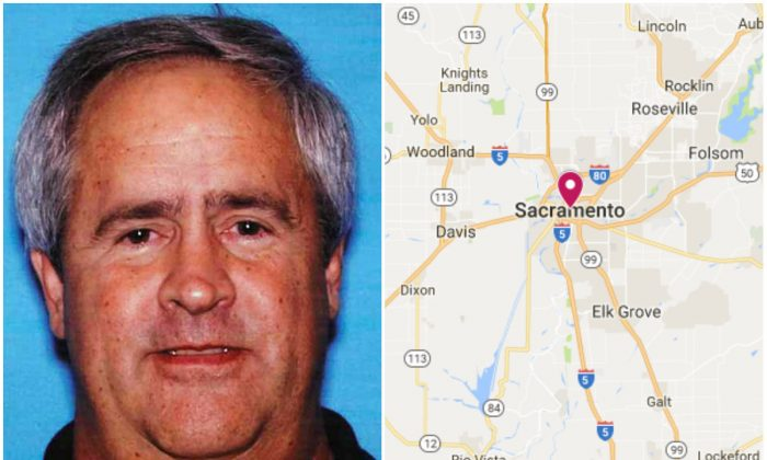 L: Michael Carey Clemans. (United States District Attorney's Office for the Eastern District of California); R: Sacramento, Calif. (Screenshot via Google My Maps)