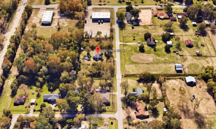 The 7300 block of Elbert Street in Houston, Texas, where an FBI agent accidentally shot a kidnapped man. (Screenshot via Google Maps)