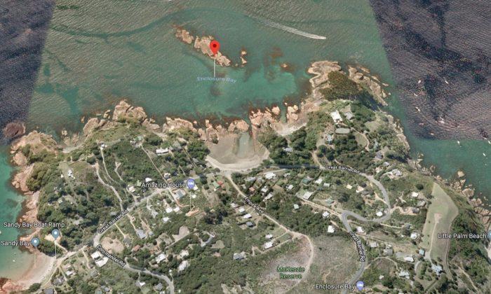 Enclosure Bay, New Zealand, where two killer whales swam past two children on Jan. 25, 2018. (Screenshot via Google Maps)