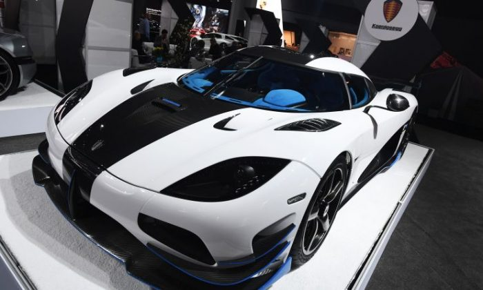Koenigsegg's Agera RS car is displayed during the New York International Auto Show at the Javits center in New York on April 13, 2017. (Jewel Samad/AFP/Getty Images)