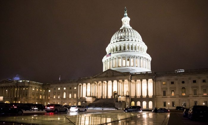 The Capitol Building on Jan. 29, 2018. A brief overnight government shutdown ended on Feb. 9, after Congress passed a two-year spending bill.  (Samira Bouaou/The Epoch Times)