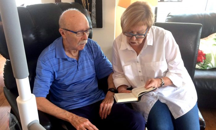Theresa Zukauskas and her husband Walter, who has Parkinson's disease, are shown in Halifax on Sept. 22, 2017. After the couple learned they would lose their family doctor in early November, Theresa called 811 to get on the waiting list but no doctors were available. (The Canadian Press/Michael Tutton)