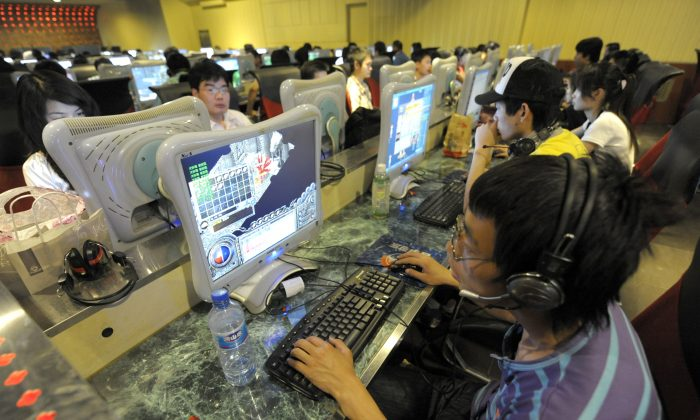 People at an internet cafe in Beijing on June 3, 2009. (Liu Jin/AFP/Getty Images)