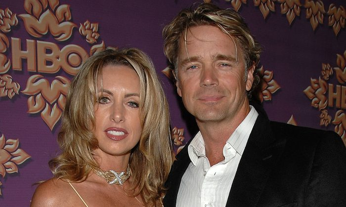 Actor John Schneider (R) and ex-wife Elvira Castle attend the HBO Emmy after party at the Pacific Design Center on Sept. 16, 2007 in Los Angeles, California. (Stephen Shugerman/Getty Images)