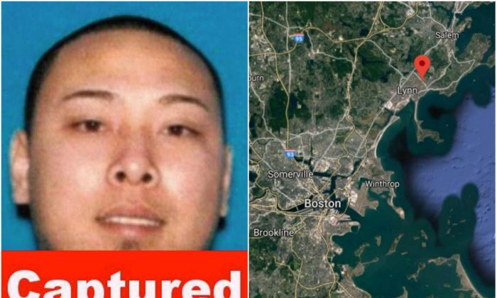 L: Steven Touch. (Middlesex District Attorney's Office); R: The area where Steven Touch was arrested in Lynn, Mass., on Jan. 30, 2018. (Screenshot via Google Maps)