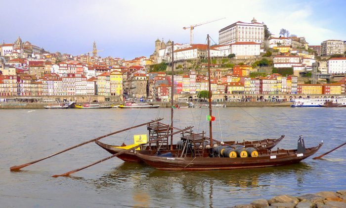 Barges on the Douro River in Porto. (Manos Angelakis)