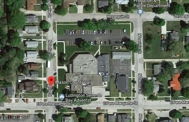 Mason County Jail, Michigan (Screenshot/GoogleMaps)