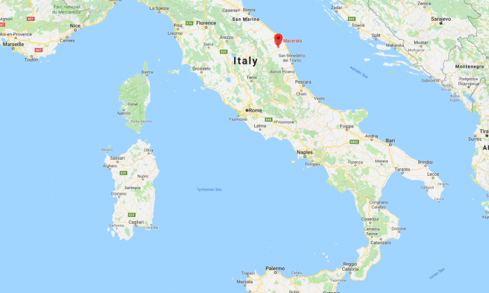 The city of Macerata, central Italy (Screenshot/GoogleMaps)