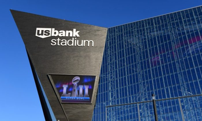General overall view of U.S. Bank Stadium prior to Super Bowl LII between the Philadelphia Eagles and the New England Patriots in Minneapolis, Feb 1, 2018. (Kirby Lee/USA TODAY Sports)