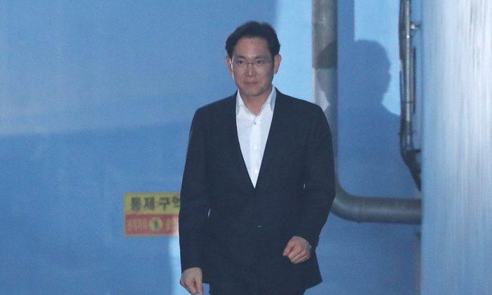Samsung Electronics Vice Chairman, Jay Y. Lee leaves a court in Seoul, South Korea, Feb. 5, 2018. (Lee Ji-eun/Yonhap via Reuters)
