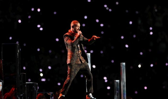 Justin Timberlake performs during the Pepsi Super Bowl LII Halftime Show at U.S. Bank Stadium on Feb. 4, 2018 in Minneapolis, Minnesota. (Patrick Smith/Getty Images)