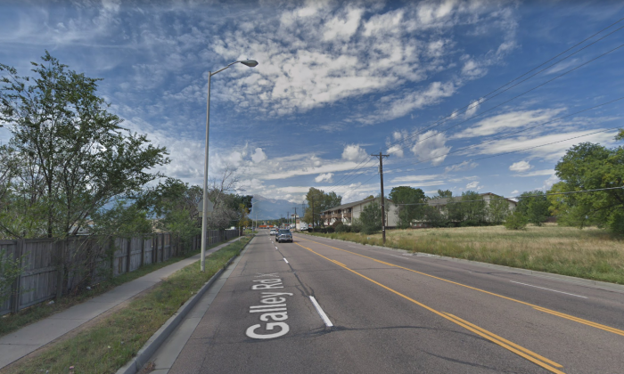 The 4000 block of Galley Road, Colorado Springs, the location that Deputy Micah Flick was investigating when he was fatally shot on Jan 5, 2018. (Screenshot/GoogleMaps)