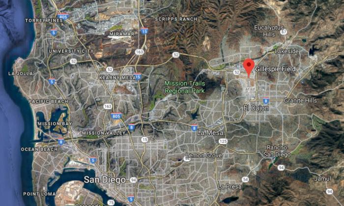 Gillespie Field northeast of San Diego, Calif. (Screenshot via Google Maps)