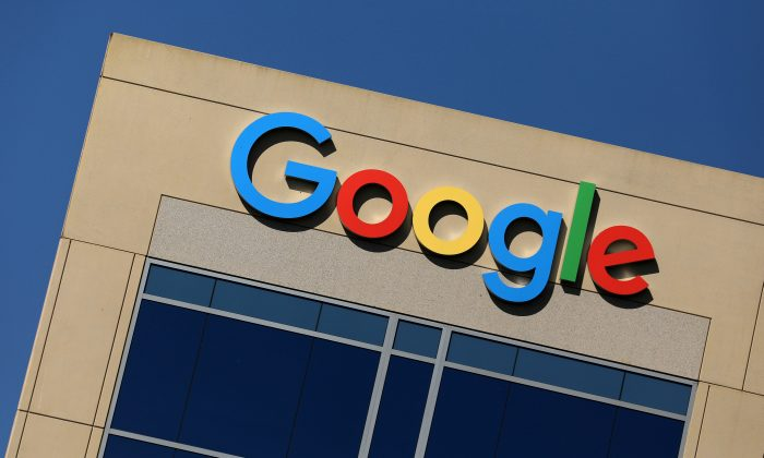 The Google logo is pictured atop an office building in Irvine, Calif., on Aug. 7, 2017.   (REUTERS/Mike Blake/File Photo)