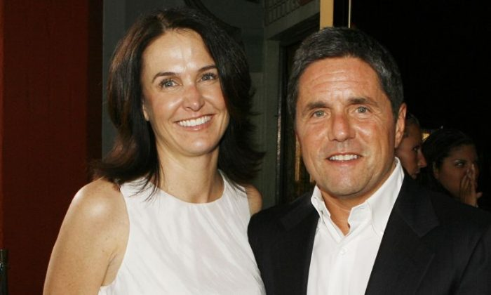 "Executive producer Jill Messick and Paramount's Brad Grey pose at the premiere of Paramount Picture's ""Hot Rod"" at the Chinese Theater on July 26, 2007, in Los Angeles, California. (Kevin Winter/Getty Images)"