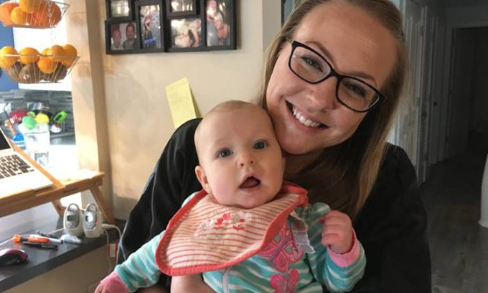 Jessica Porten went to a doctor's appointment with her daughter, Kira, to get help with post-partum depression. The nurse called the police. (April Dembosky/KQED)