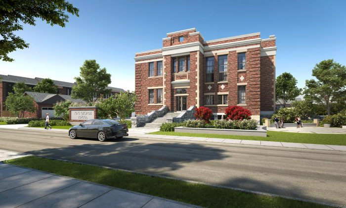Rendering of the King George School lofts. (Courtesy of The Rose Corporation)