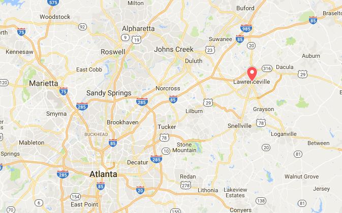 Lawrenceville, Ga. (Screenshot via Google My Maps)