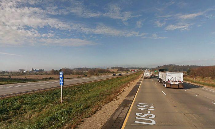 Highway 18-151 near Rte. 69 in Verona, Wis., where the crash occurred (Screenshot via Google Maps)