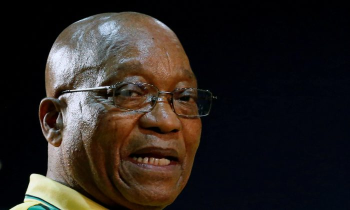 President of South Africa Jacob Zuma attends the 54th National Conference of the ruling African National Congress (ANC) at the Nasrec Expo Centre in Johannesburg, South Africa Dec. 16, 2017. (Reuters/Siphiwe Sibeko/File Photo)