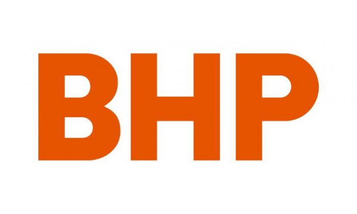 Australian mining company BHP's new corporate logo, released to Reuters from their Melbourne, Australia, headquarters May 15, 2017.  (BHP/Handout via Reuters)
