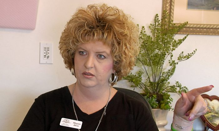 Megan Hess, owner of Donor Services, is pictured during an interview in Montrose, Colorado, U.S., May 23, 2016 in this still image from video. (Reuters/Mike Wood/File Photo)