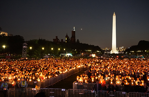 The National Law Enforcement Officers Memorial Fund candlelight vigil, May 13, 2016, National Mall, Washington D.C. (Courtesy FBI)