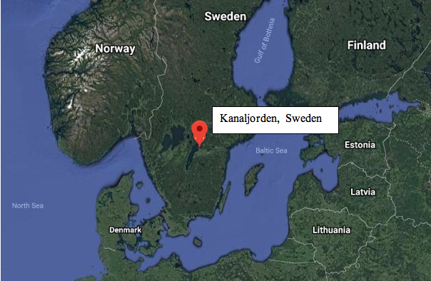 An ancient ritual for the dead took place at Kanaljorden, Sweden roughly 8,000 years ago. The discovery of the site is a remarkable find. (Google Maps)