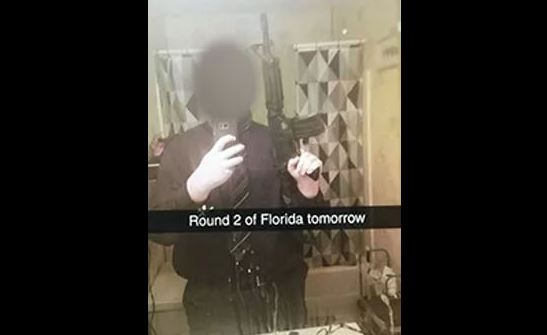 A threat posted to Snapchat by a Broome High School student. (Snapchat)