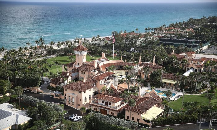 The Mar-a-Lago resort in Palm Beach, Florida, on Jan, 11, 2018. (Joe Raedle/Getty Images)