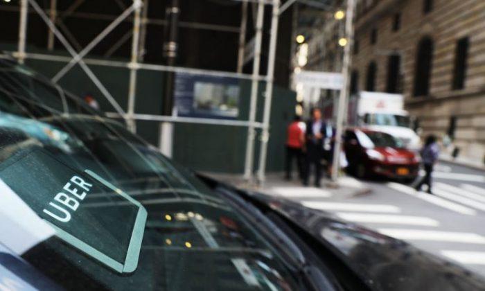 An Uber car in Manhattan, New York City on June  14, 2017. (Spencer Platt/Getty Images)